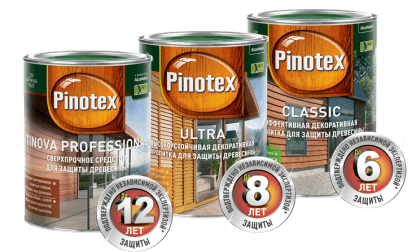 Защита деревянного дома с «Pinotex»